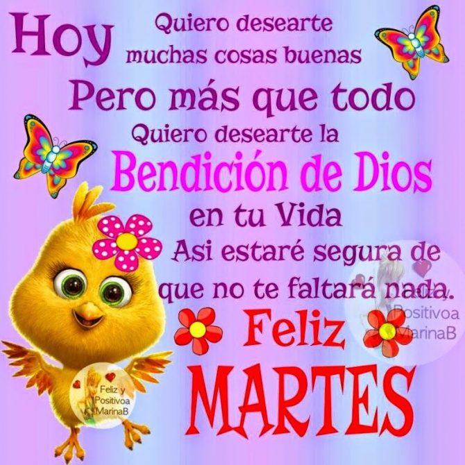 Bendición De Dios Para El Martes Imágenesdebuenosdiases