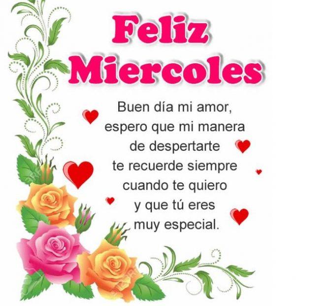 Buen Día Mi Amor Y Feliz Miércoles Imágenesdebuenosdiases